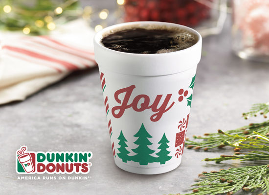 Dunkin' Donuts Brews Holiday Joy with Hot Coffee Promotion