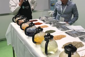 Blending tea at Tea & Coffee World Cup