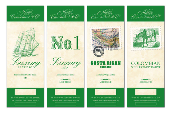 Martin Carwardine redesigns its labelling
