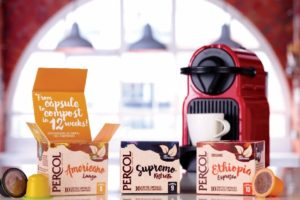 Percol Coffee's compostable capsules win UK packaging Award