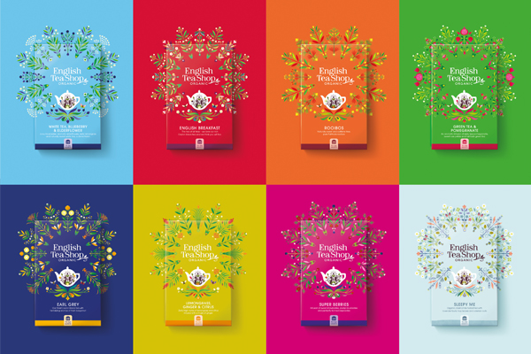 Refreshed English Tea Shop branding highlights sustainability story