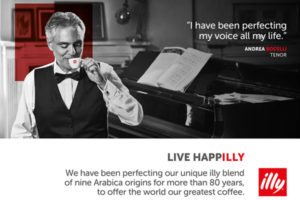 illy partners with Andrea Bocelli for marketing campaign