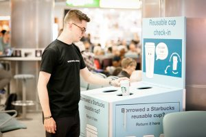 Starbucks and Gatwick Airport trial reusable cup system